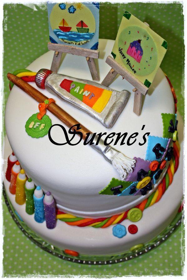 Best 25 artist cake ideas on pinterest art birthday for Friendship crafts for 2 year olds