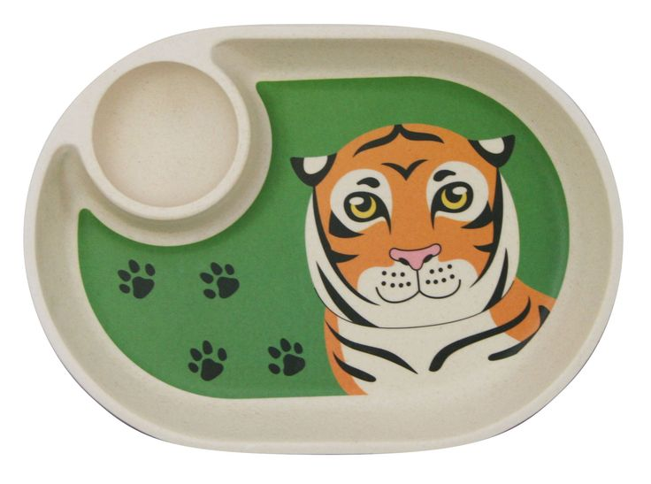 Ecobamboo Ware Babies/Kids/Toddlers Bamboo Small Tray/Plate, Tiger