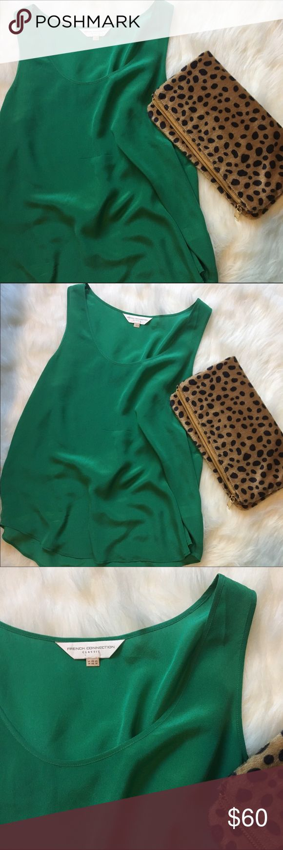 Emerald Silk Tank Top Such a great, bold tank to pair with anything you want!  Plus it's 100% silk and who doesn't love silk? French Connection Tops Tank Tops