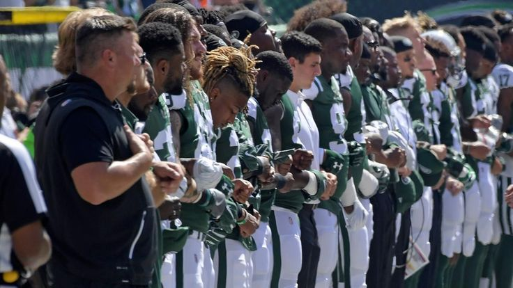 Teams and players protest in week 3 of the NFL season