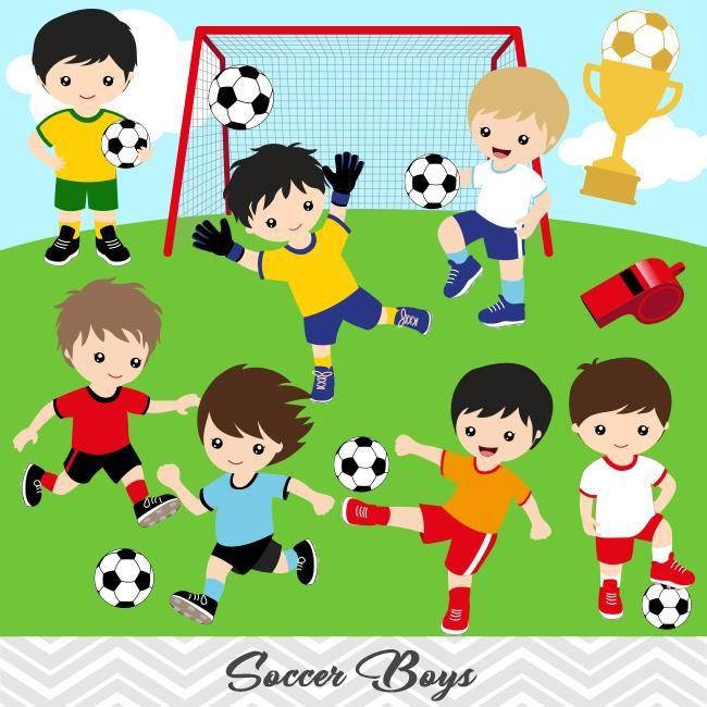 Boys Soccer Digital Clip Art Sport Boys Soccer Team Clipart 00256 Clipart Boy Soccer Boys Clip Art