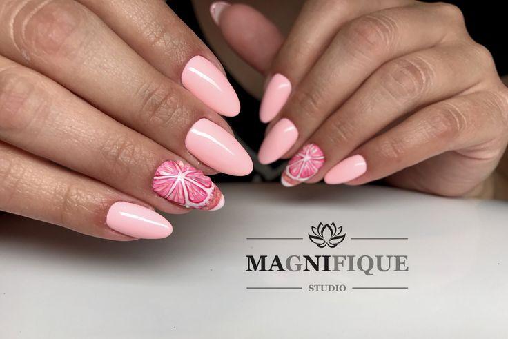 Summer Nails Pink nail Art Grapefruit