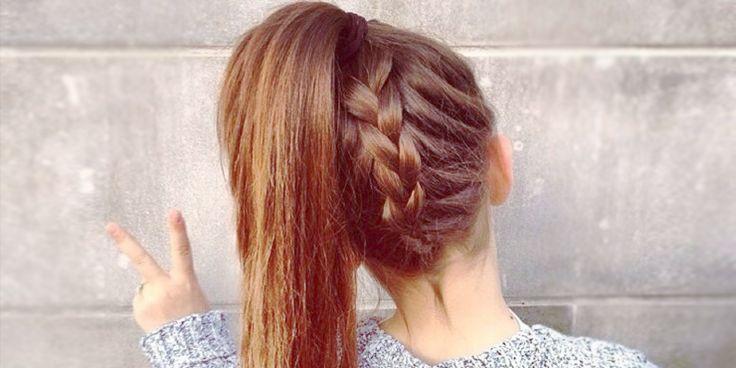 10 Peinados con trenzas y cola de caballo que debes intentar