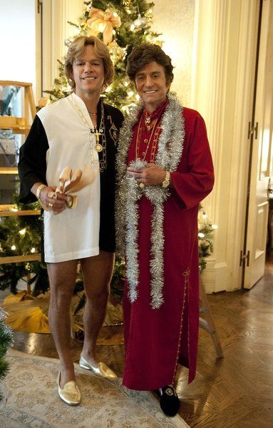"""Michael Douglas, right, as Liberace and Matt Damon as Scott Thorson in HBO's """"Behind the Candelabra"""", a biopic about the pair's unconventional relationship. Directed by Steven Soderbergh."""