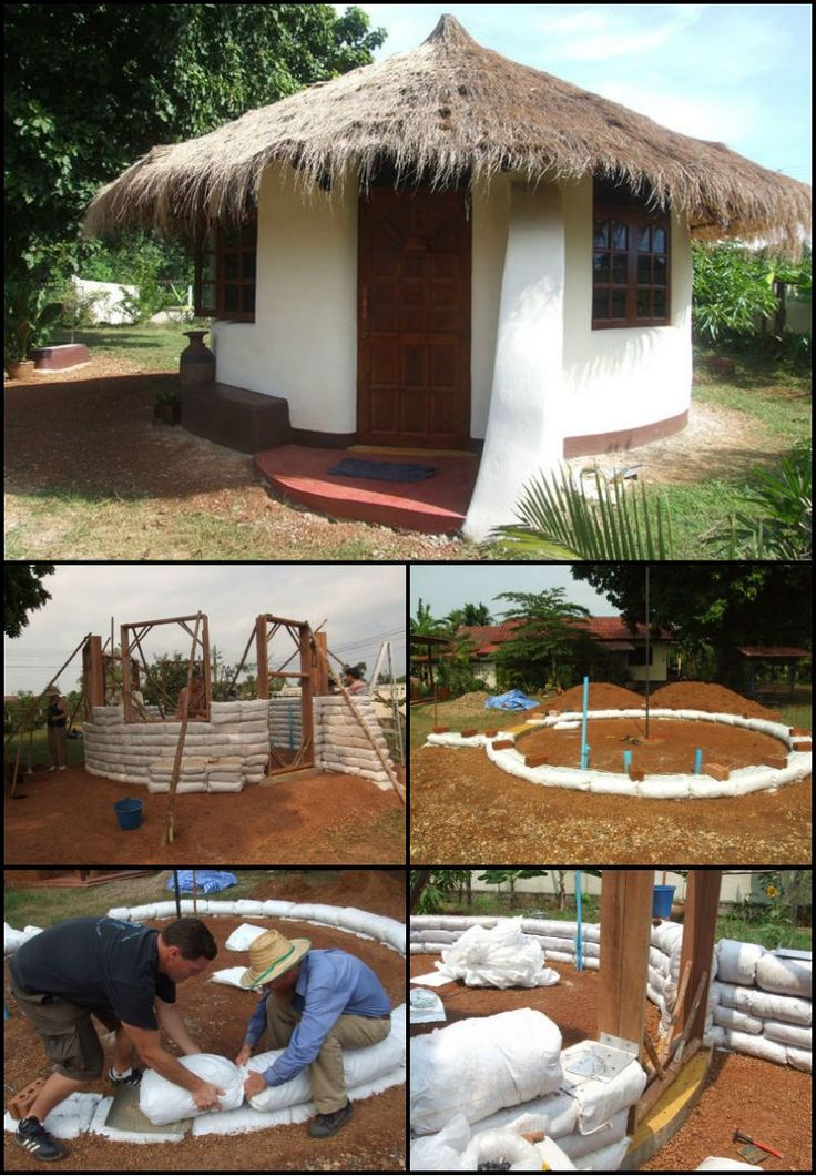 Learn How To Build An Earthbag Round House  http://theownerbuildernetwork.co/dwj0  Sandbags were first used by the military and emergency services teams to build protective structures and for flood control.  Now the concept of using earthbags has been applied to housing to create strong and affordable strucures.