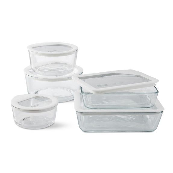 Pyrex Ultimate 10 Piece Glass Storage Set Pyrex Glass Storage Glass Storage Glass Food Storage Containers