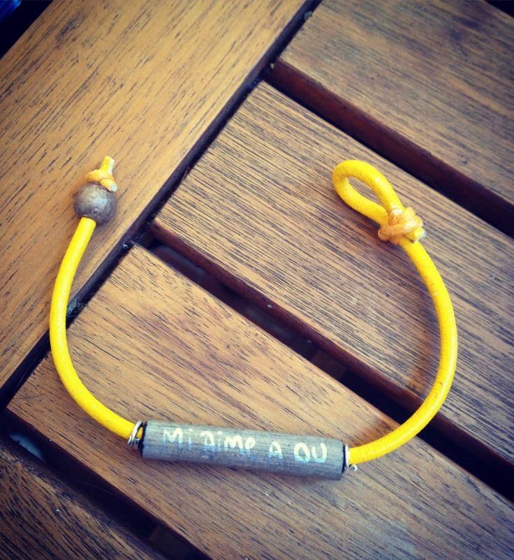 Bracelet message personnel, cadeau, saint valentin, bracelet personnalisé, offrir, homme, femme, unisexe, coloré bois flotté, idée cadeau de la boutique AlessentielA2 sur Etsy