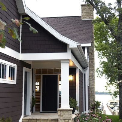 Dark Gray With White Trim House Exterior Pinterest Exterior