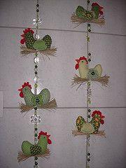 Mbiles de galinhas verde de frutinhas (*Sonhos e Retalhos Ateli*) Tags: galinha patchwork decorao cozinha mbile costura pingentecortina