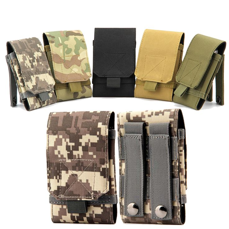 2017 Outdoor Nylon Army Camouflage Mobile Phone Bags & Cases For iPhone 5/SE/6/6S/7 Plus Xiaomi Redmi Note 4 2 3 Pro 3S 3X Case