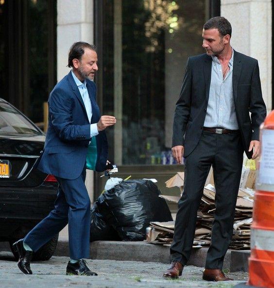 Liev Schreiber Photos Photos - Liev Schreiber and Fisher Stevens Out in NYC - Zimbio