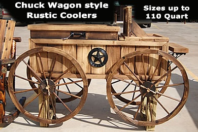 Chuck Wagon style Rustic Cooler