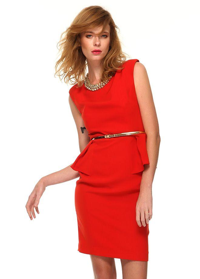 Stil Aşkı: Kırmızı ve Beyaz Buluşması Önü volanlı arkası dantel elbise Markafoni'de 139,99 TL yerine 69,99 TL! Satın almak için: http://www.markafoni.com/product/4733790/ #summer #fashion #dress #moda #elbise #girl #model #fashion #red #kırmızı #white #beyaz