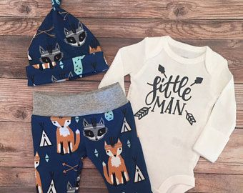 Southwest Little Man Coming Home Outfit, Going Home Outfit, Cactus, fox, tee pee, arrow, raccoon,READY TO SHIP name outfit, baby boy