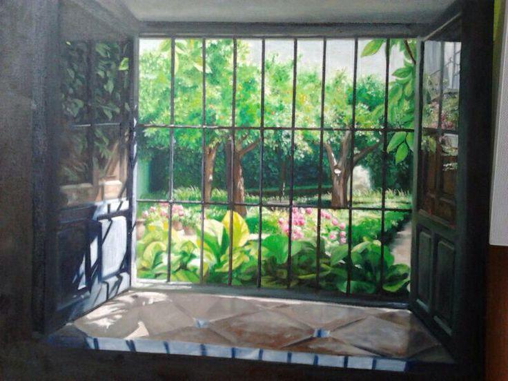 Pintura. Desde la ventana