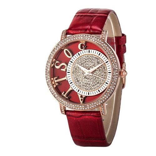 Stylish Watches for Girls 3D Letter Desigh Dial Designer Wrist Watches Waterproof Genuine Leather Luxury Wrist Watches