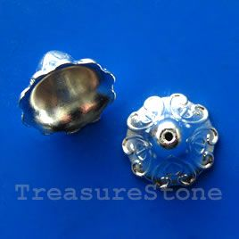 #Cone, bright silver-finished, 16mm. #TreasureStone Beads Edmonton.
