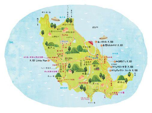 直島イラストマップ