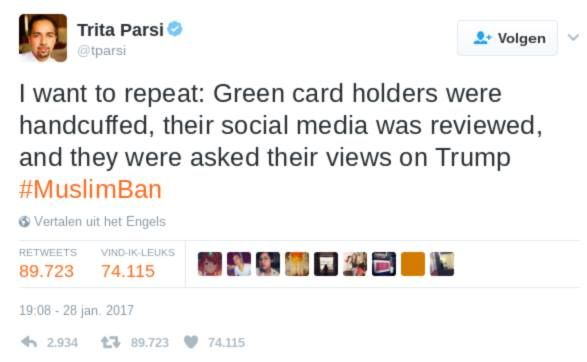 Trump gaat full blown Noord-Korea  Moslims met werkvisa werden geboeid social media doorgenomen en over gedachten over Trump ondervraagd. Nu voor moslims straks voor iedereen in de Republiek VSDDR? Die muur met Mexicos is dus om de mensen binnen te houden. NOT THIS TIME MOTHERFUCKERS!
