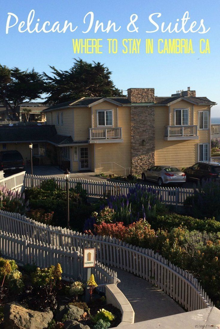 Where to stay in Cambria, CA: The Pelican Inn and Suites on beautiful Moonstone Beach is a great choice for families.