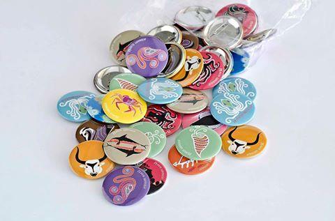 Pins for Cretaquarium!!! Production & Patent : Prepack Design : Elena Zournatzi