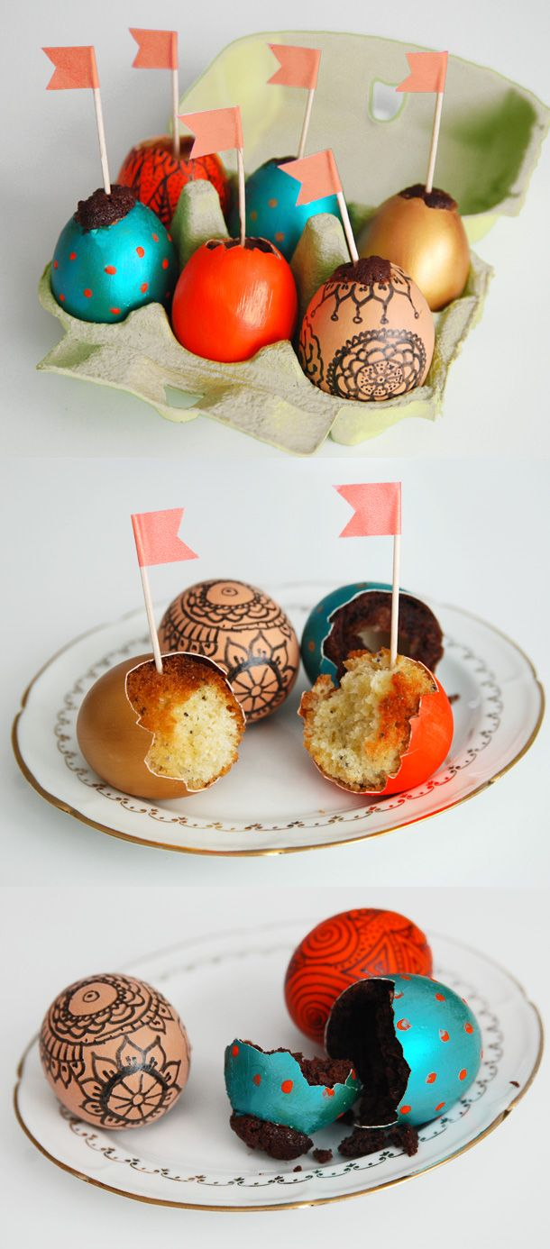 Wow! Easter egg cakes!
