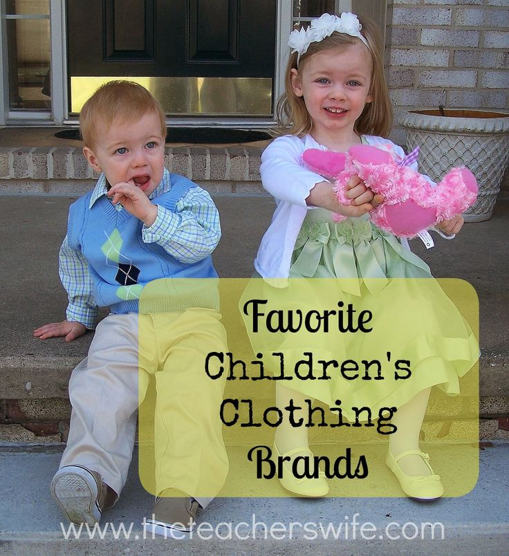 Whether I'm buying new or used, these are my favorite children's clothing brands.  What are yours?