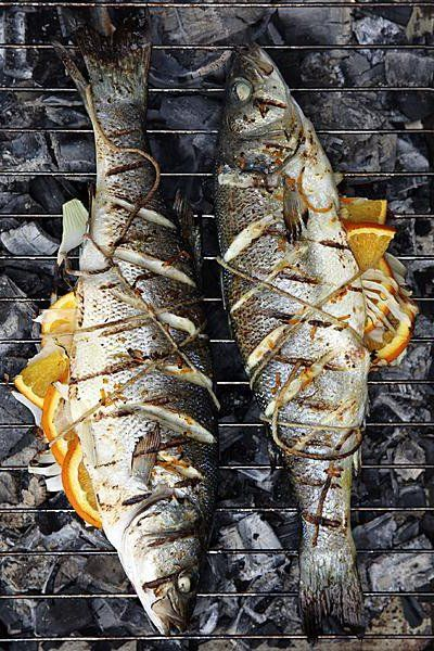 .Fish on the grill