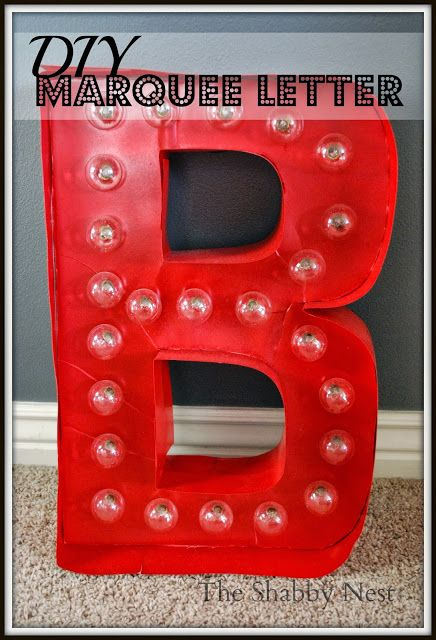 DIY Light-up Marquee Letter~