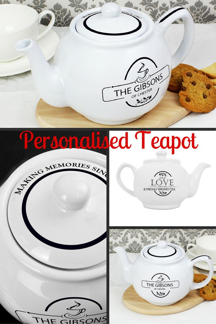 Add some style to tea time with this modern and contemporary personalised teapot with a trendy FULL OF LOVE design. A fantastic gift that will look great in any home!  A great Housewarming Gift, Wedding Gift and a great idea as a Gift For Her. whatever the occasion