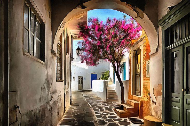 Tiny Streets. Paroikia, Paros, Greece