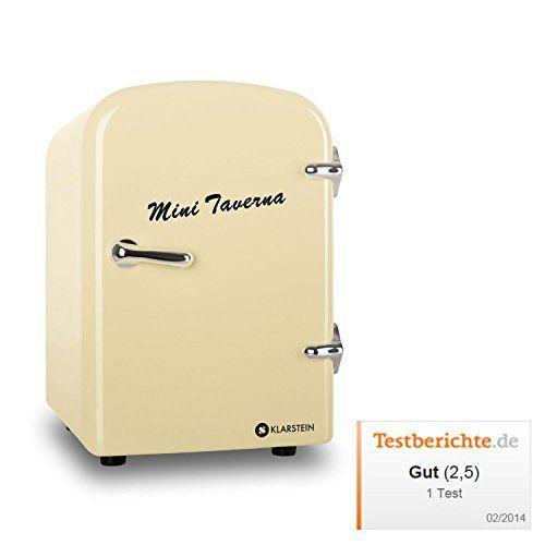 Klarstein Mini Taverna Mini frigo (glacière électrique design, chaud/froid pour canettes et petites bouteilles, 4L, secteur ou…