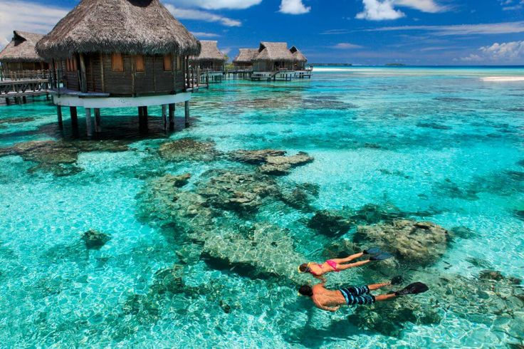 Tikehau Pearl Beach Resort French Polynesia - This magnificent Pacific paradise is located on Tikehau, a coral atoll found in French Polynesia. Tikehau Pearl Beach Resort has 24 suites and overwater bungalows, as well as 13 beaches on a beautiful, well-kept island property.