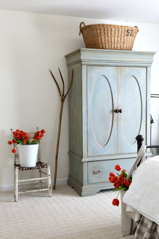 Armoire Transformation.....oh so French blue