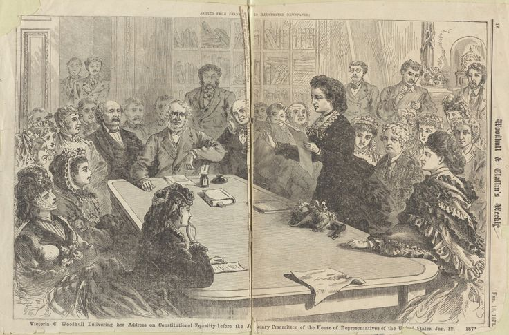 digitalpubliclibraryofamerica:  As we head towards #ElectionDay youll find voting rights history in our new exhibition Battle on the Ballot: Political Outsiders in US Presidential Elections!  Presidential candidates Victoria Woodhull and Belva Ann Lockwood each argued for womens right to vote over 30 years before the passage of the nineteenth amendment. Learn more about early women candidates for president.  And in 1964 Freedom Summer leaders including SNCCs Bob Moses and Fannie Lou Hamer of…