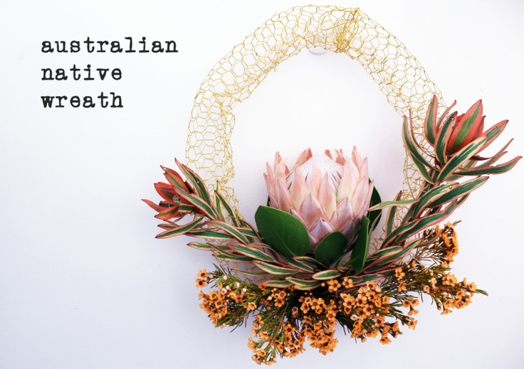 Christmas wreath with native Australian flora #Christmas #wreath #handmade #flowers
