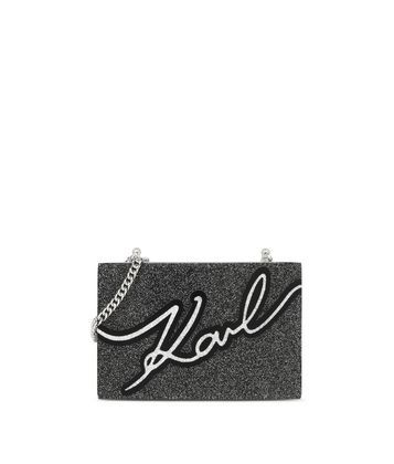 Are you looking for Karl Lagerfeld women's KARL SIGNATURE MINAUDIERE? Discover all the details on Karl.com. Fast delivery and secure payment.
