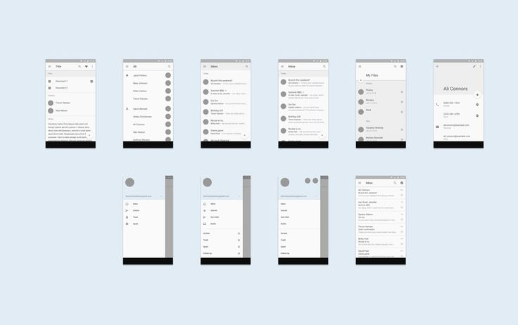 Android L Mobile & Tablet UI Template