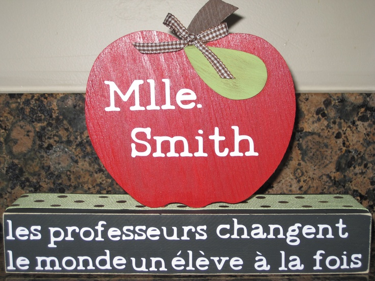 1st grade French teacher gift - front