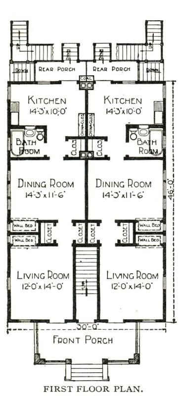 Sears 4 Plex House Plans Pinterest Tags Tiny House