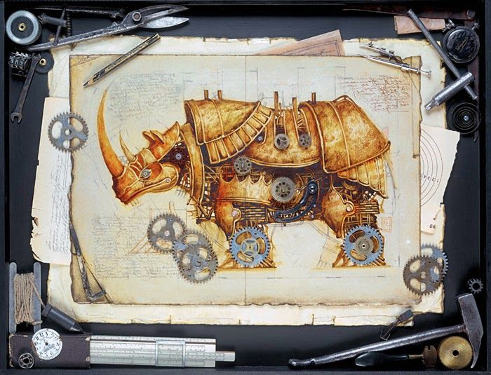 07-Vladimir-Gvozdev-Surreal-Steampunk-Animal-Drawings-www-designstack-co