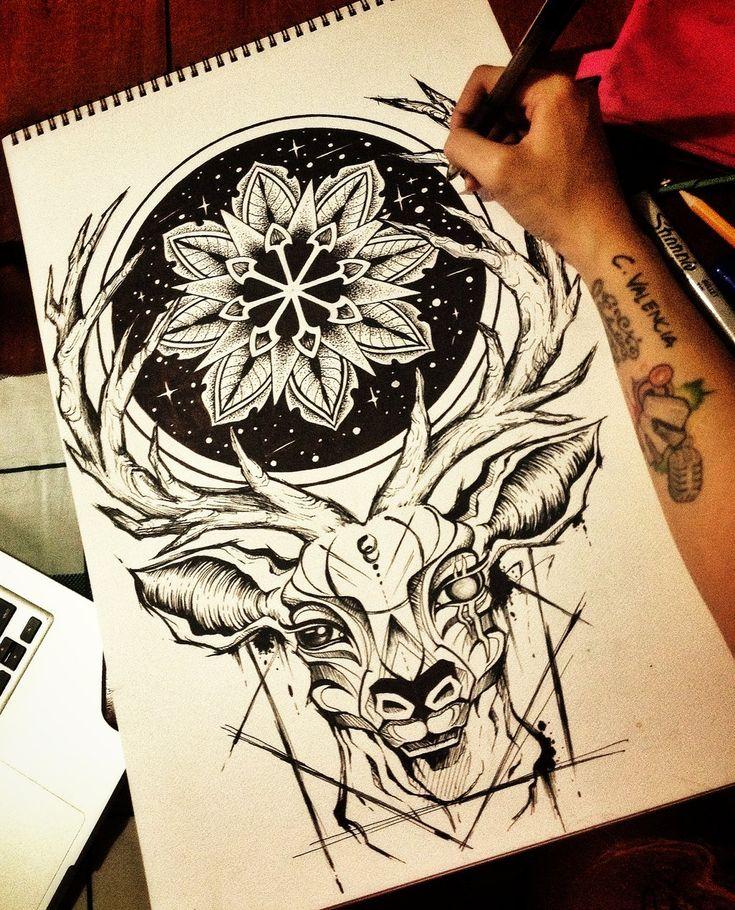 Deer Mandala by camsy.deviantart.com on @DeviantArt