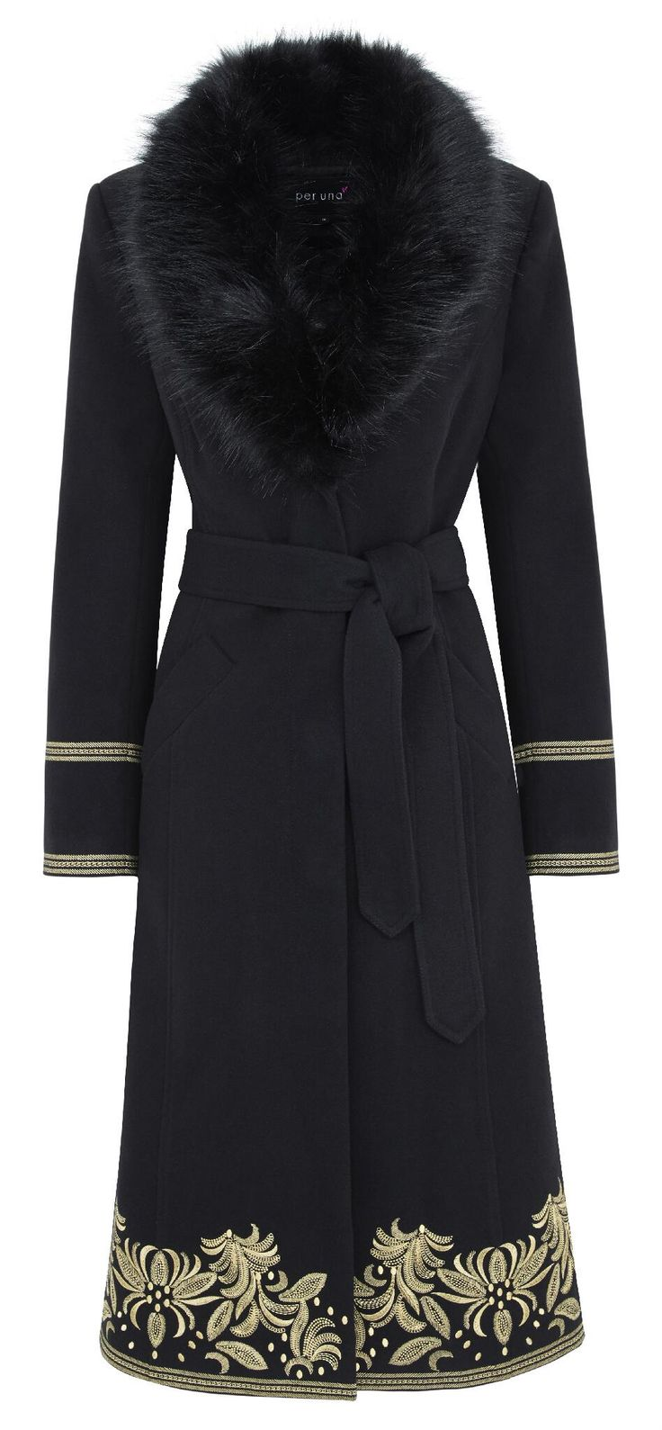 This Russian gothic coat with faux fur collar <3 would be a great addition to my wardrobe.