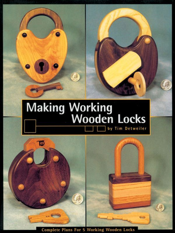 DIY Woodworking Project: How to Make a Warded Lock A step-by-step guide to make-it-yourself warded locks with measured drawings and types of wood and wood finish.: