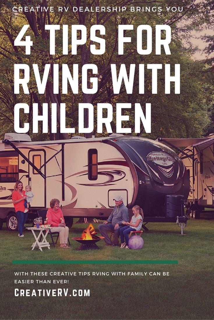 Here at Creative RV, one of the most common reasons people visit our RV dealership is to find a way to spend quality time with the family away from home without giving up those small comforts. As many parents will tell you, sometimes even a quick summer trip to the store can be a production. However, RVing with children can be easy and enjoyable with these simple tips.