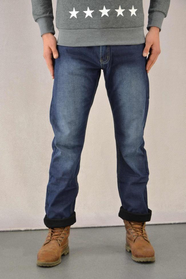 Ανδρικό παντελόνι τζιν με επένδυση  PANT-5017 Παντελόνια τζίν - Jeans & denim