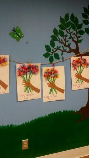 Mother's day craft my 3yr old preschool class made for their moms. I love this craft!