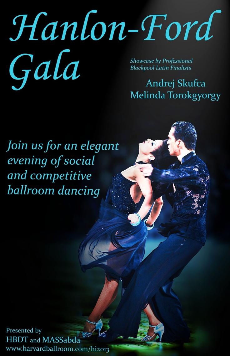 Professional Latin Blackpool and World Championship Finalists Andrej Skufca and Melinda Torokgyorgy to perform at the Harvard Invitational's Hanlon-Ford Gala! http://www.harvardballroom.org/hi2013/hfball.php#info