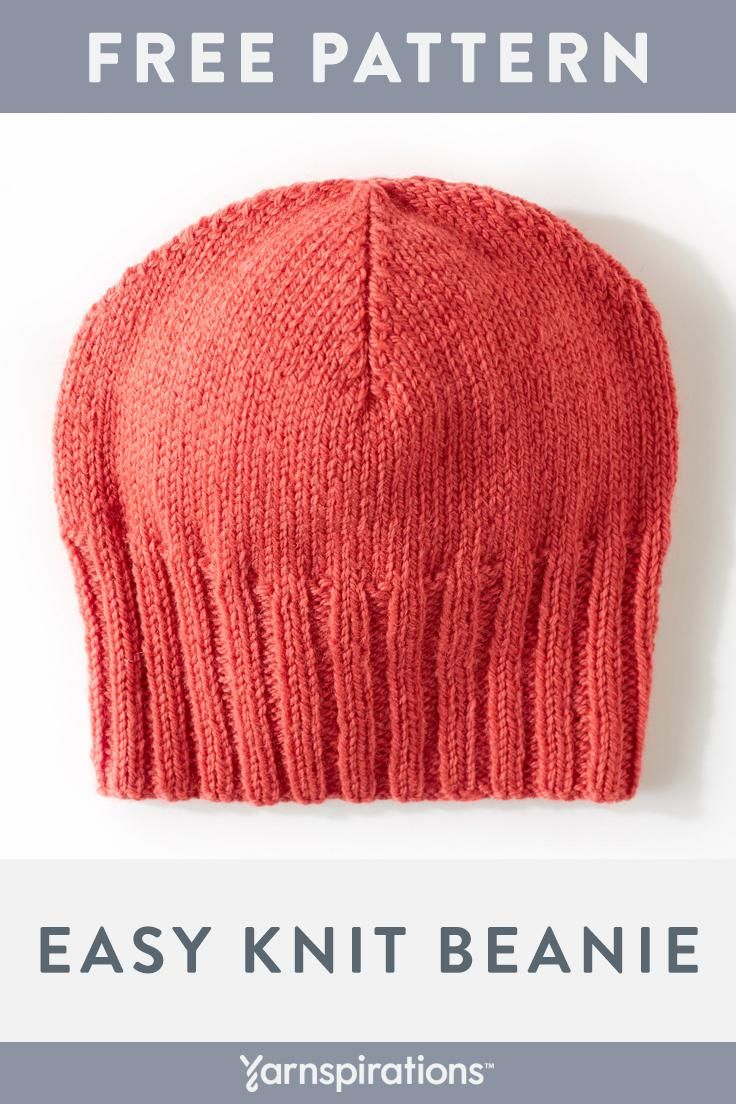 4964c469b65 Knit a slouchy beanie in worsted weight Patons Classic Wool Worsted. This  free hat pattern is sized for adults.  Yarnspirations  Patons   PatonsClassicWool ...