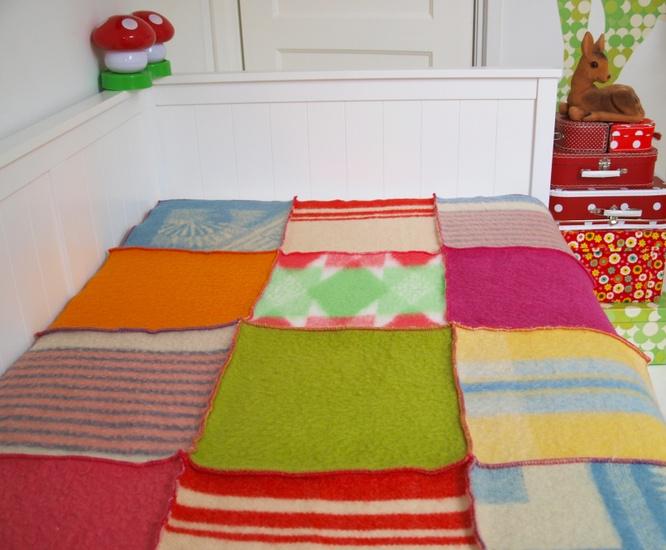 #kinderbeddengoed wollen deken meisjeskamer via JAAN